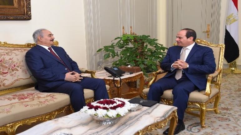لقاء السيسي بخليفة حفتر وسط الهجوم العسكري على طرابلس