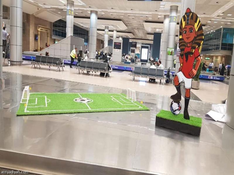 صالة بمطار القاهرة الدولي لاستقبال المنتخبات المشاركة في بطولة كأس أمم أفريقيا