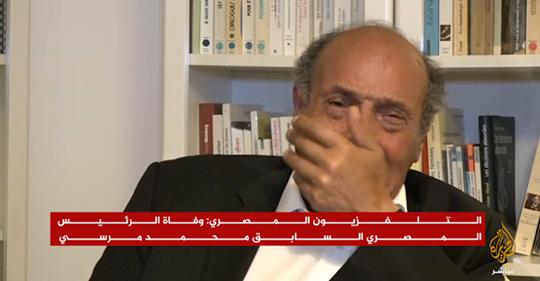 فيديو : الرئيس التونسي المنصف المرزوقي ينهار ويبكي بكاء حارا وهو يرثي  الرئيس مرسي