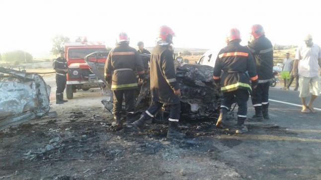 مصرع سيدة وإصابة آخرين في حادثة سير خطيرة ضواحي الفقيه بن صالح