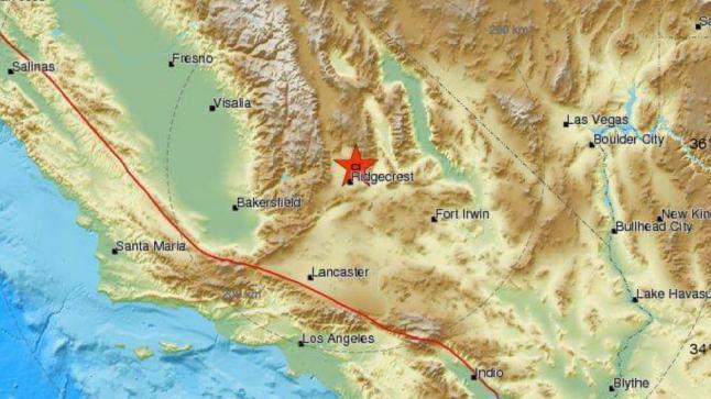 زلزال بقوة 7.1 درجة يضرب جنوب كاليفورنيا