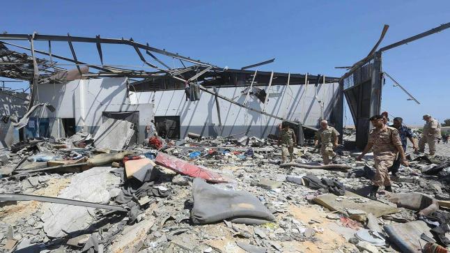 سبعة قتلى مغاربة وثمانية جرحى وثلاثة مفقودين في قصف مركز الهجرة غير النظامية بليبيا