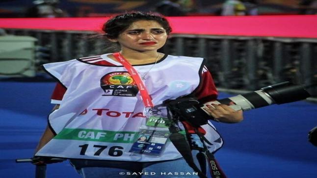 صفاء سراج الدين المصورة التي حطمت بدموعها قلوب مشجعي منتخب المغرب