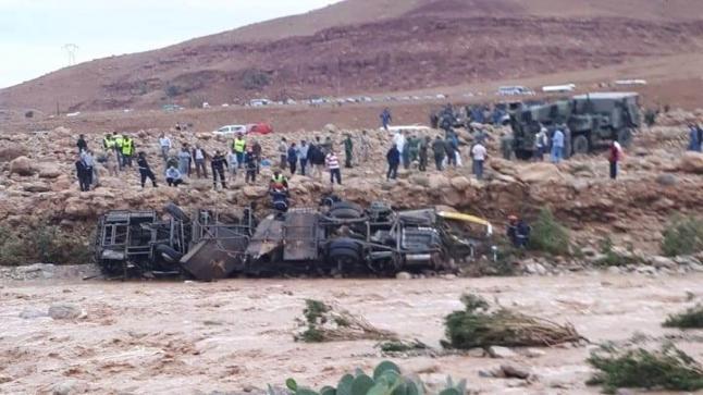 العثور على جثة شخص من ضمن المفقودين في فاجعة الراشيدية