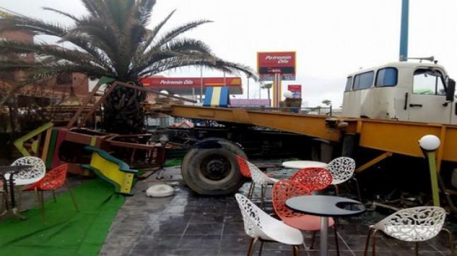 شاحنة تقتحم مقهى بالبيضاء أثناء مباراة المغرب ضد الكوديفوار