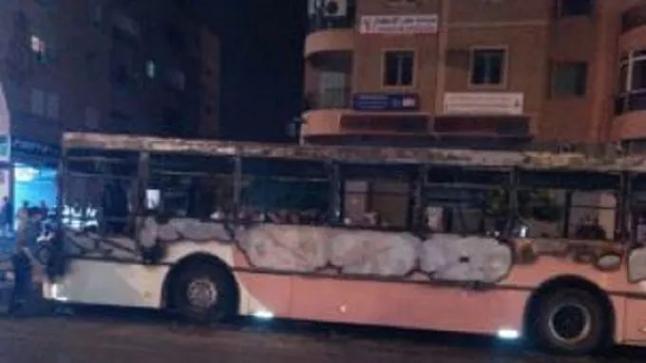 احتراق حافلة بمراكش كان على متنها مجموعة من الركاب