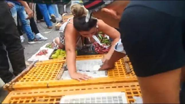 سائحة أجنبية تدخل في حالة هستيرية بسبب بائع دجاج بطنجة