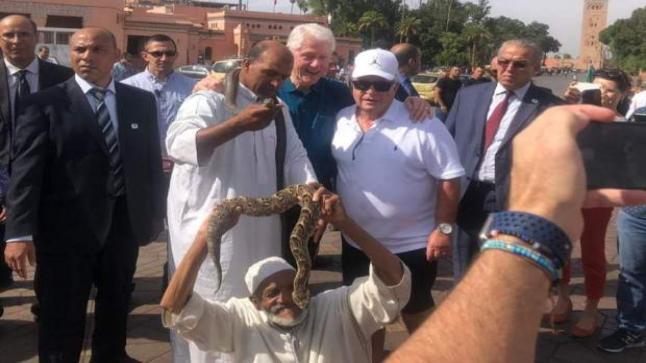 الرئيس الأمريكي السابق بيل كلينتون في مراكش