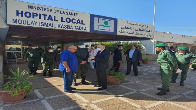 والي الجهة خطيب لهبيل يتفقد مستشفيات إقليم بني ملال واستنفار للتصدي لأي اصابة محتملة بكورونا