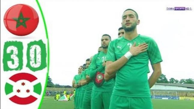 اهداف مباراة المغرب وبورندي (3-0) تصفيات كاس امم افريقيا(فيديو)