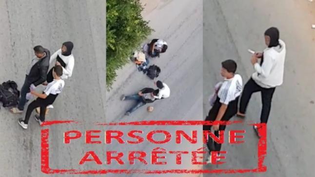 اعتقال شاب ظهر في فيديو يسرق مواطنا في الدار البيضاء