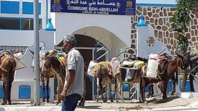 العطش يخرج سكان الحسيمة للاحتجاج بالحمير