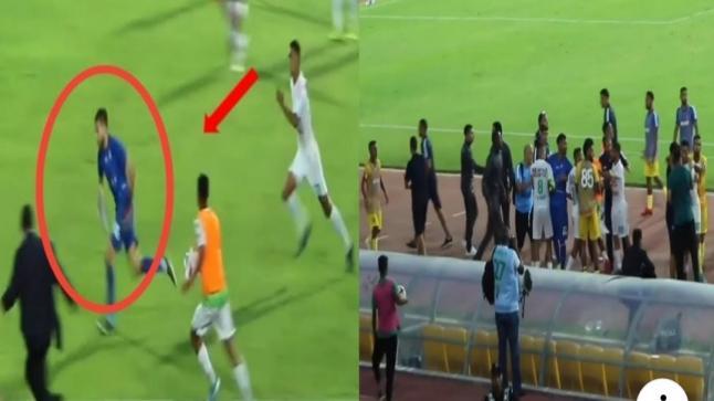 بعد الهزيمة المدوية…لاعبو الرجاء البيضاوي يعتدون على حارس نهضة الزمامرة(فيديو)