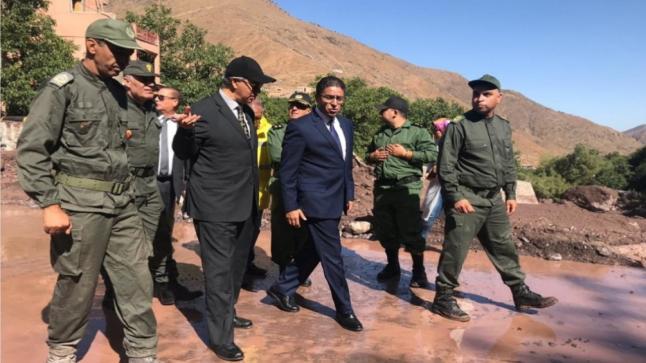 والي مراكش و عامل الحوز يتفقدان خسائر فيضانات واد امليل(صور)