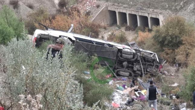 ارتفاع ضحايا حادثة انقلاب حافلة لنقل الركاب بإقليم تازة إلى 17 وفاة و35 جريحا