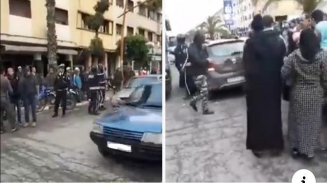 شاهد محاولة اختطاف فتاتين بالمحمدية(فيديو)