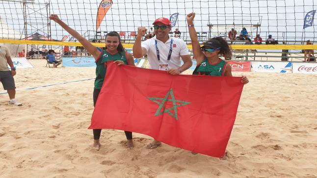 المنتخب المغربي يفوز على ناميبيا في المباراة النهائية ويحرز ذهبية للكرة الطائرة الشاطئية