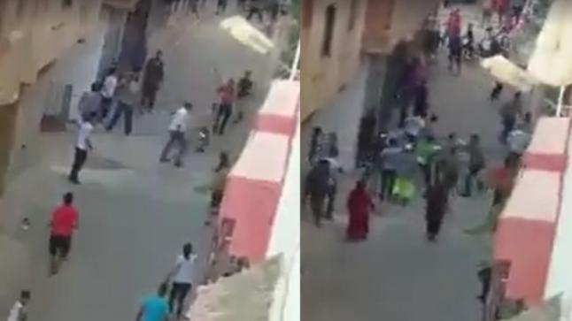 مديرية الحموشي تتفاعل مع شريط فيديو بمكناس لاشخاص يتبادلون الضرب و الجرح بالسلاح لابيض.