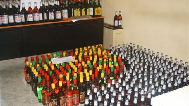 الأمن يداهم وكرا لتخزين الخمور ببنسليمان