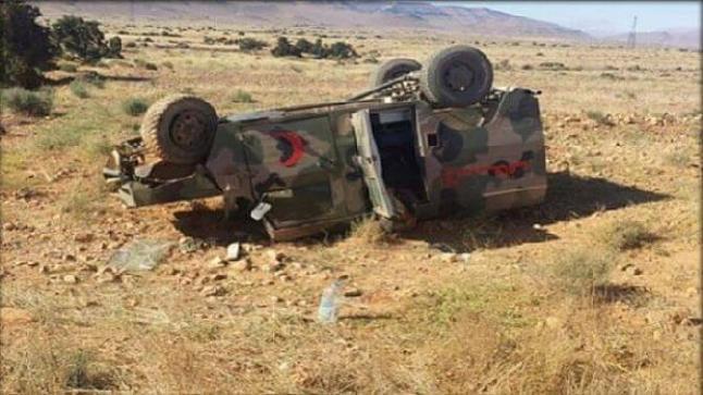 وفاة ضابط.. إرتفاع حصيلة حادثة سير سيارة عسكرية شرق العيون